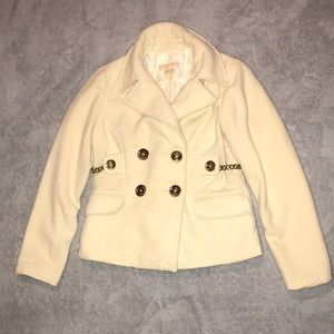 Michael Kors SMALL Wool Coat w/ Gold Metal buttons